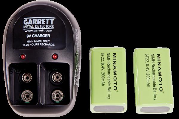 Ladegerät für SuperWand & THD & SuperScanner V mit 2 Akkus
